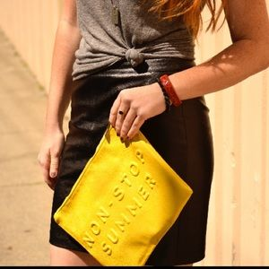 Non Stop Summer Have Fun Yellow Clutch
